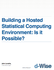 Hosted Statistical Computing environment