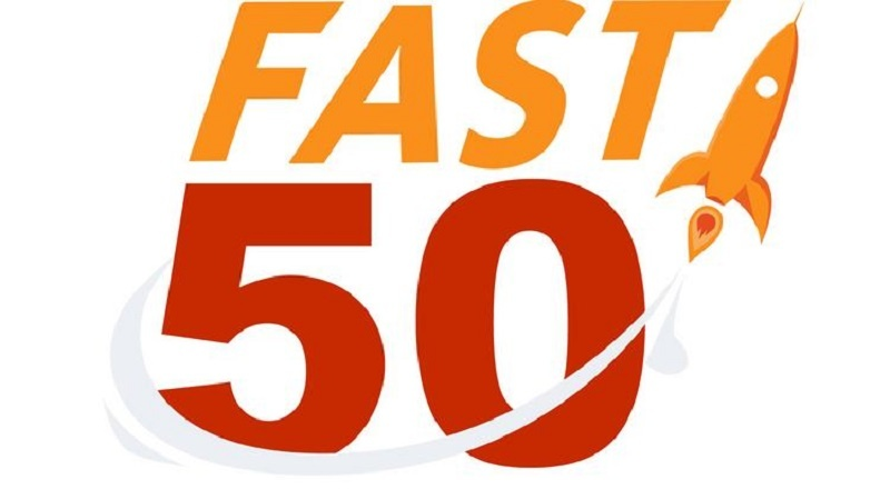 "Leading companies on the publication's ""Fast 50"" list for 2017"